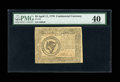Colonial Notes:Continental Congress Issues, Continental Currency April 11, 1778 $8 PMG Extremely Fine 40....
