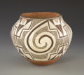 American Indian Art:Pottery, AN ACOMA POLYCHROME JAR. c. 1930. ...