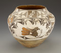 American Indian Art:Pottery, AN ACOMA POLYCHROME JAR. c. 1935...