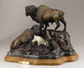 Sculpture, DAVID MANUEL (American, b. 1940). American Family, 1982. Bronze with patina. 12 x 17 x 12 inches (30.5 x 43.2 x 30.5 cm)...