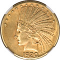 Indian Eagles, 1920-S $10 AU55 NGC. CAC....