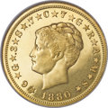 Proof Four Dollar Gold Pieces, 1880 $4 Coiled Hair, Judd-1660, Pollock-1860, R.7, PR62 NGC....