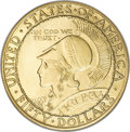 Commemorative Gold, 1915-S $50 Panama-Pacific 50 Dollar Round MS66 NGC....