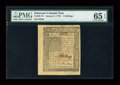 Colonial Notes:Delaware, Delaware January 1, 1776 4s PMG Gem Uncirculated 65 EPQ....