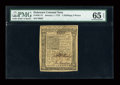 Colonial Notes:Delaware, Delaware January 1, 1776 2s6d PMG Gem Uncirculated 65 EPQ....