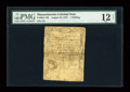 Colonial Notes:Massachusetts, Massachusetts August 18, 1775 1s PMG Fine 12 Net....