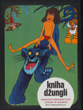 "Movie Posters:Animated, The Jungle Book (Buena Vista, 1974). Czech Poster (11"" X 15.5"").Animated...."