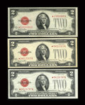 Small Size:Legal Tender Notes, A Trio of Original Fr. 1508* $2 1928G Legal Tender Notes. Very Fine to Choice About Uncirculated.. ... (Total: 3 notes)
