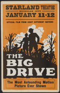 "Movie Posters:War, The Big Drive (Unknown, 1928). Window Card (14"" X 22""). War...."