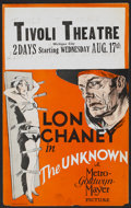 "Movie Posters:Drama, The Unknown (MGM, 1927). Window Card (13.5"" X 21.75""). Drama...."