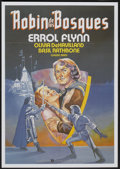 "Movie Posters:Adventure, The Adventures of Robin Hood (United International, R-1980s). Spanish One Sheet (27.5"" X 39""). Adventure...."