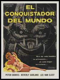 """It Conquered the World (Cub-Mex, 1956). Mexican One Sheet (27"""" X 36""""). Science Fiction"""