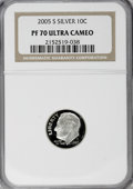 Proof Roosevelt Dimes, 2005-S 10C Silver PR70 Ultra Cameo NGC. PCGS Population (90/0).Numismedia Wsl. Price for NGC/PCGS coin...