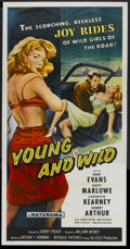 """Movie Posters:Bad Girl, Young and Wild (Republic, 1958). Three Sheet (41"""" X 81""""). FlatFolded. Bad Girl...."""