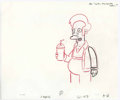 "Animation Art:Production Drawing, ""The Simpsons"" - Homer Simpson and Apu at the Quickie MartAnimation Drawing Original Art, Group of 9 (Fox, 2003-2004)....(Total: 9)"