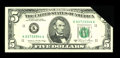 Error Notes:Major Errors, Fr. 1977-K $5 1981A Federal Reserve Note. Choice About Uncirculated.. ...