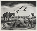 Texas:Early Texas Art - Drawings & Prints, PROPERTY FROM A PRIVATE COLLECTION. MERRITT MAUZEY (American,1898-1973). Group of Five Lithographs. Lithograph. 17 x ...(Total: 5 Items)