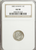 Coins of Hawaii: , 1883 10C Hawaii Ten Cents AU58 NGC. NGC Census: (36/105). PCGSPopulation (28/124). Mintage: 250,000. (#10979)...