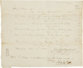 "Autographs:Authors, Jacob De Cordova Autograph Tax Document Signed ""J. DeCordova"". One page, 8.25"" x 7"", November 3, 1848, Houston, toChar..."