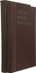 Books:Signed Editions, Sister M. Agatha. Texas Prose Writing, A Reader's Digest. Dallas: Banks Upshaw and Company, 1936. First edition.... (Total: 2 Items)