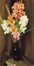 Paintings, WILLIAM HERBERT DUNTON (American, 1878-1936). Flower Study, 1933. Oil on canvas. 30 x 16 inches (76.2 x 40.6 cm). Signed...