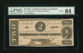 Confederate Notes:1862 Issues, T54 $2 1862. . ...