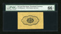 Fractional Currency:First Issue, Fr. 1282SP 25c First Issue Wide Margin Back Specimen PMG Gem Uncirculated 66 EPQ....