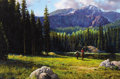 Paintings, MARTIN GRELLE (American, b. 1954). A Big Man in a Big Land, 1983. Acrylic on canvas. 24 x 36 inches (61.0 x 91.4 cm). Si...