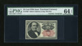 Fractional Currency:Fifth Issue, Courtesy Autographed Fr. 1308 25c Fifth Issue PMG Choice Uncirculated 64 EPQ....