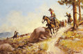 Western:20th Century, FRED HARMAN (American, 1902-1982). The High Trail. Oil on canvas. 28 x 42 inches (71.1 x 106.7 cm). Signed and dated low...