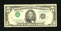 Error Notes:Inverted Third Printings, Fr. 1973-K $5 1974 Federal Reserve Note. Very Fine.. ...
