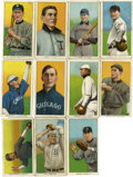 """Baseball Cards:Lots, 1909-11 T206 White Border Tobacco Group of (11) - All """"Sovereign""""Brand Backs...."""