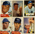 Baseball Cards:Lots, 1952-1953 Topps & Bowman New York Yankees HoFers Group of (6)....
