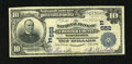National Bank Notes:Pennsylvania, West Chester, PA - $10 1902 Plain Back Fr. 624 The NB of Chester County Ch. # (E)552. ...