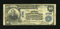 National Bank Notes:Pennsylvania, Wilkinsburg, PA - $10 1902 Plain Back Fr. 628 The First NB Ch. # 4728. ...