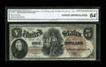 Large Size:Legal Tender Notes, Fr. 72 $5 1880 Legal Tender CGA Choice Uncirculated 64....