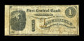 Obsoletes By State:South Dakota, Central City, Dakota Territory- First Central Bank $1 1877. ...