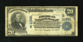 National Bank Notes:Virginia, Portsmouth, VA - $20 1902 Plain Back Fr. 658 American NB Ch. #(S)11381. ...