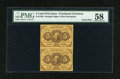 Fractional Currency:First Issue, Fr. 1230 5c First Issue Vertical Pair PMG Choice About Unc 58....