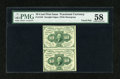 Fractional Currency:First Issue, Fr. 1242 10c First Issue Vertical Pair PMG Choice About Unc 58....