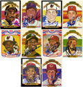 Autographs:Sports Cards, Donruss Diamond Kings Signed Trading Cards Group Lot of 107....