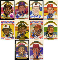 Donruss Diamond Kings Signed Trading Cards Group Lot of 107