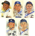Autographs:Post Cards, Baseball Hall of Famers Signed Perez-Steele Postcards Lot of 52....