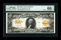 Large Size:Gold Certificates, Fr. 1187 $20 1922 Mule Gold Certificate PMG Gem Uncirculated 66EPQ....