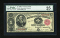 Large Size:Treasury Notes, Fr. 350 $1 1891 Treasury Note PMG Very Fine 25....