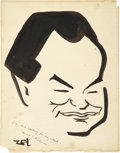 Movie/TV Memorabilia:Autographs and Signed Items, Edward G. Robinson Signed Sketch from the Brown Derby....
