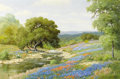 Paintings, PALMER CHRISMAN (American, 20th Century). April in the Hill Country. Oil on canvas. 32 x 48 inches (81.3 x 121.9 cm). Si...