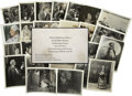 Movie/TV Memorabilia:Photos, Rudolph Valentino 1926 Funeral Admission Card and Photos....(Total: 27 Items)