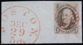 Stamps, #1, 1847, 5c Brown. (Used)....