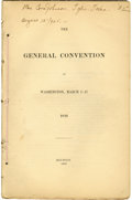 Books:Pamphlets & Tracts, [Texas Revolution] The General Convention at Washington, March 1-17, 1836. Houston. 1838. 4to. 84 pp. Disbound a...